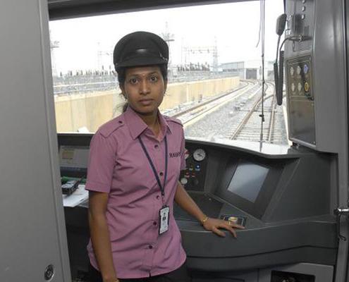 Priyanka N, First Women Metro Operator, Bangalore